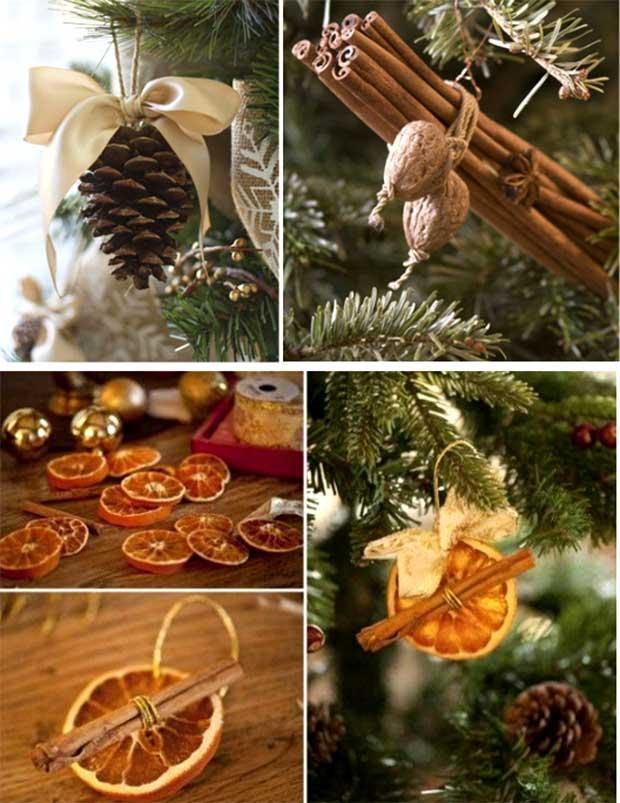 Игрушки на елку из натуральных материалов