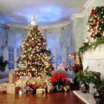 Фото 44: Новогоднее оформление большой гостиной