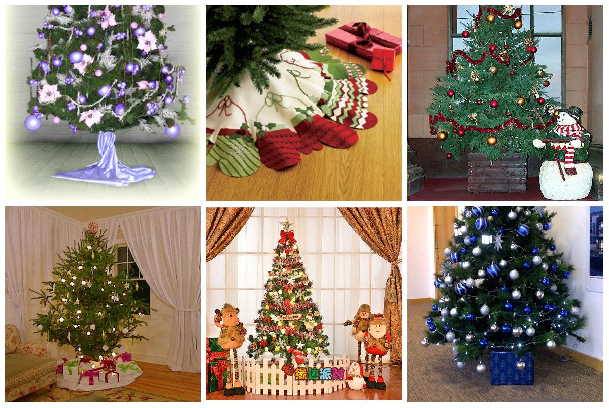 Варианты декора основания елки