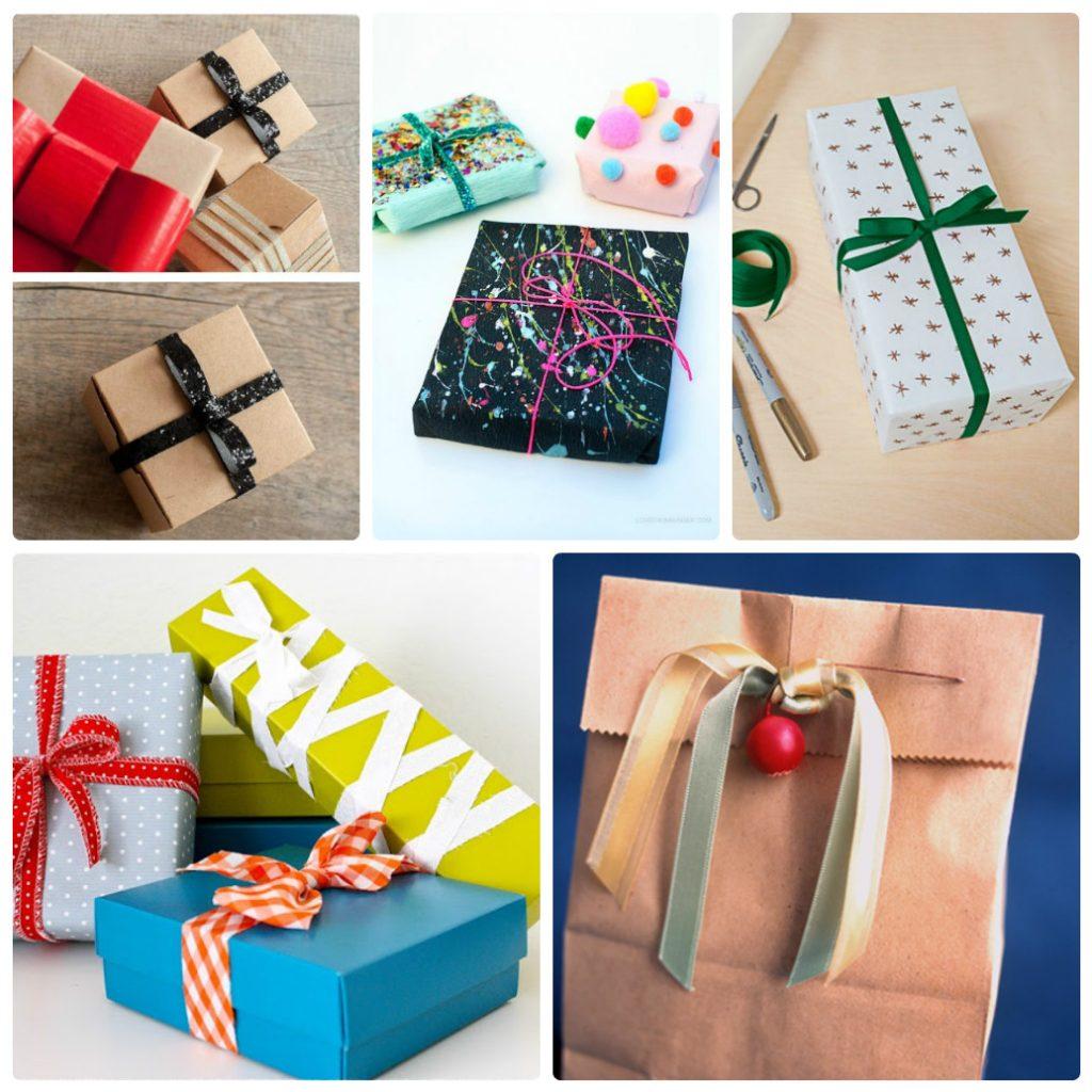 Декор упаковки лентами на Новый Год