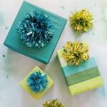 Фото 30: Новогодний декор упаковки мишурой