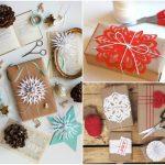 Фото 28: Новогодний декор упаковки снежинками