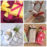 Фото 55: Новогодний декор упаковки тканью