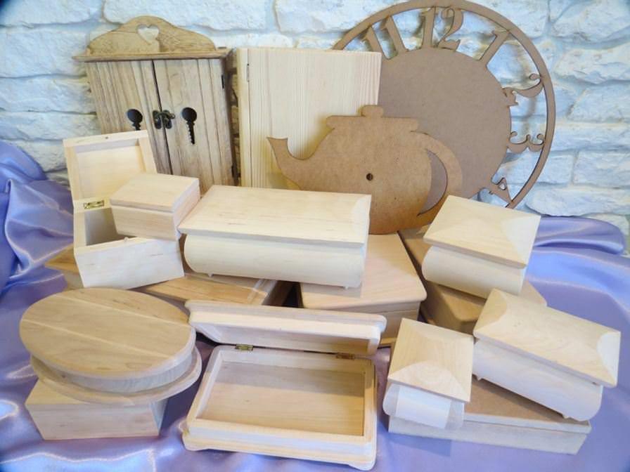Деревянные предметы для декупажа из фанеры