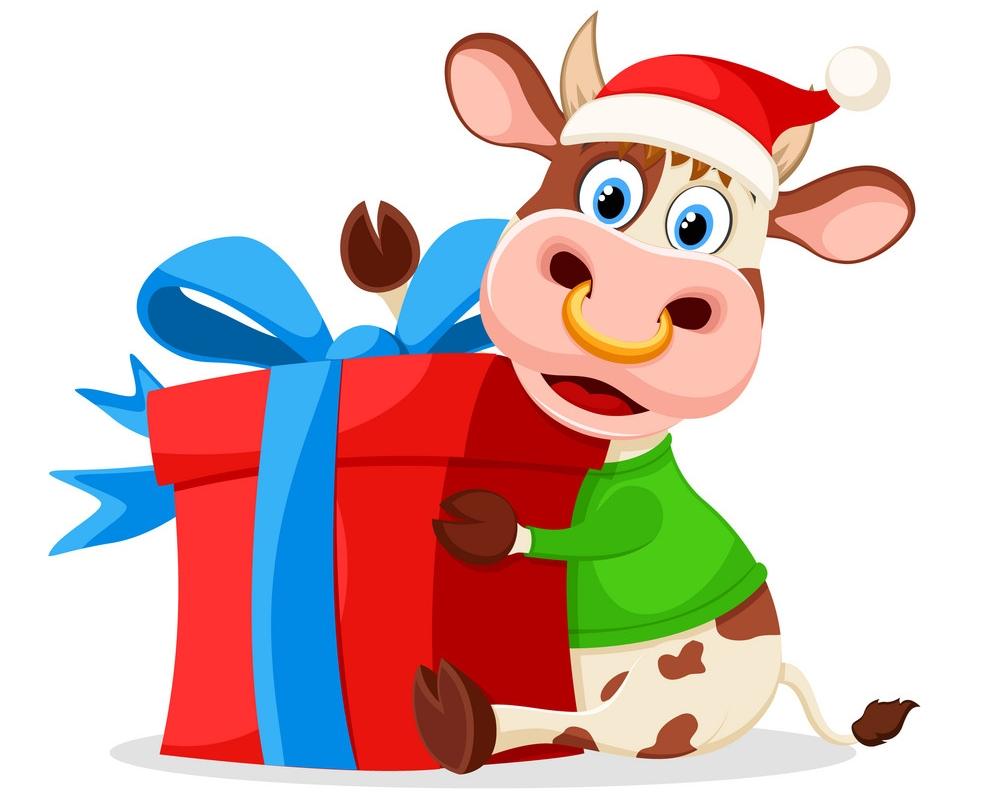 Новогодняя упаковка подарков к Году Быка