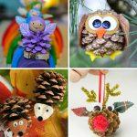 Фото 48: Игрушки из шишек на елку своими руками