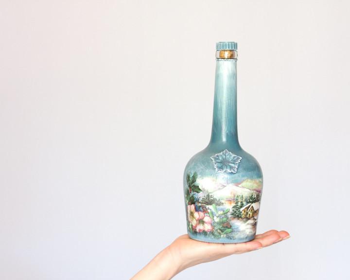 Как сделать поделки из стеклянных бутылок?