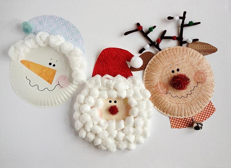 Новогодние поделки из бумажных тарелочек