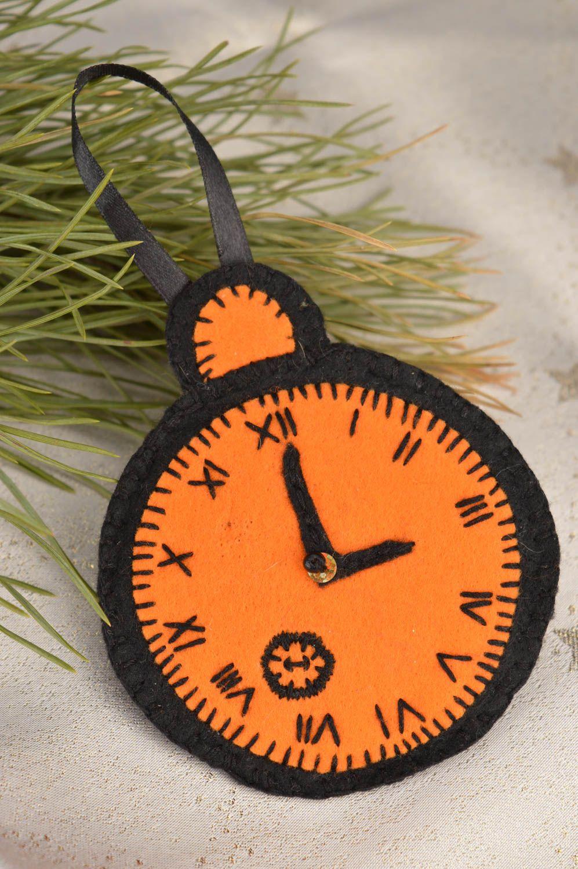 Часы из фетра новогодняя игрушка