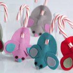 Фото 40: Крыски из фетра с конфетами