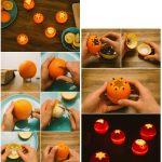 Фото 85: Подсвечники из апельсинов своими руками