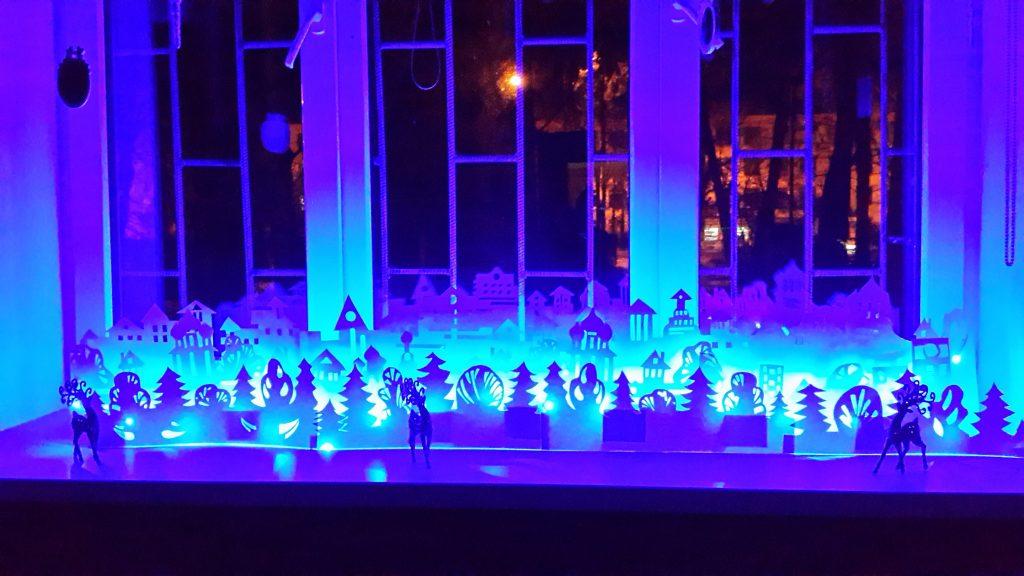 Подсветка бумажных новогодних инсталляций