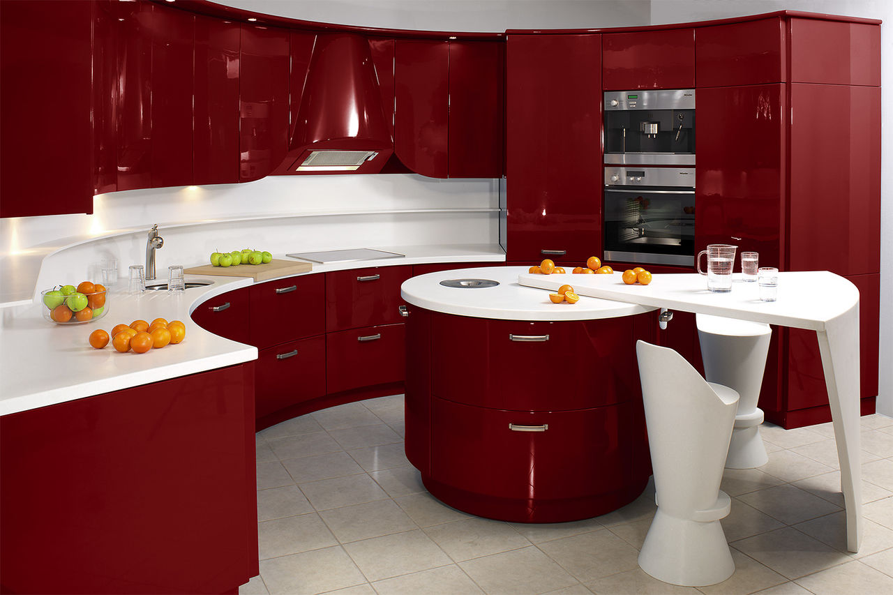 Полукруглый дизайн маленькой кухни