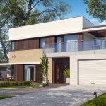 Фото 43: Проект дома с плоской крышей