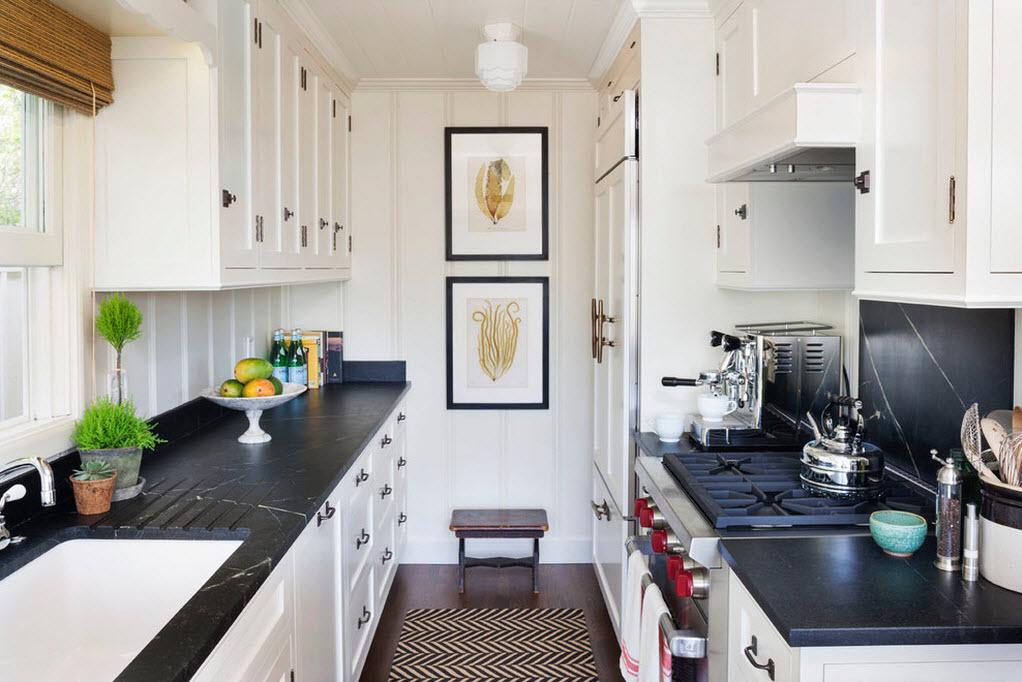 Расположение кухонного гарнитура вдоль стен