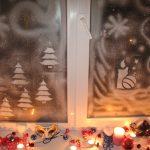 Фото 56: Рисунки пастой на окне