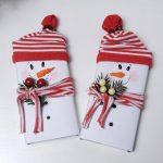 Фото 48: Новогодняя упаковка шоколадки снеговик