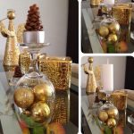 Фото 45: Золотое оформление новогодних свечей