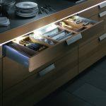 Фото 75: Светодиодная лента на кухне