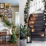 Фото 24: Украшение лестницы хвоей