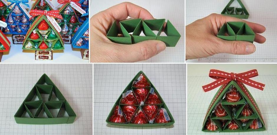 Новогодняя упаковка для конфет елочка