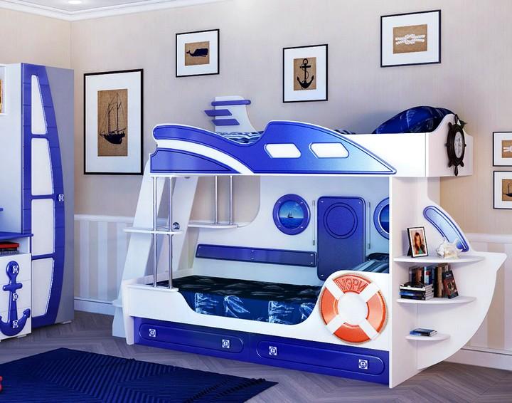 Двухъярусные детские кровати угловые