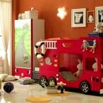 Фото 2: Детская двухъярусная кровать-машина