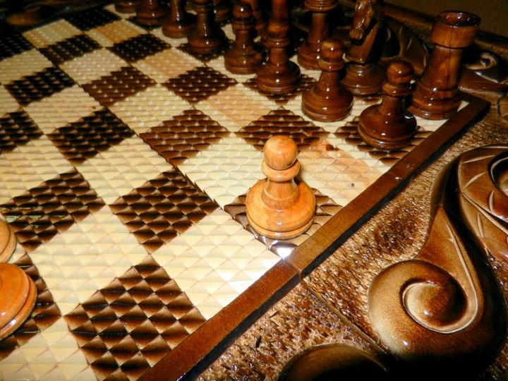 шахматная доска ручной работы