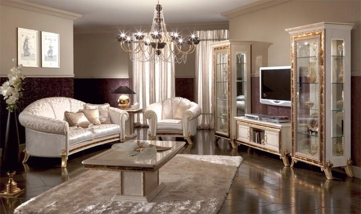 Шикарная мебель для гостиной в классическом стиле