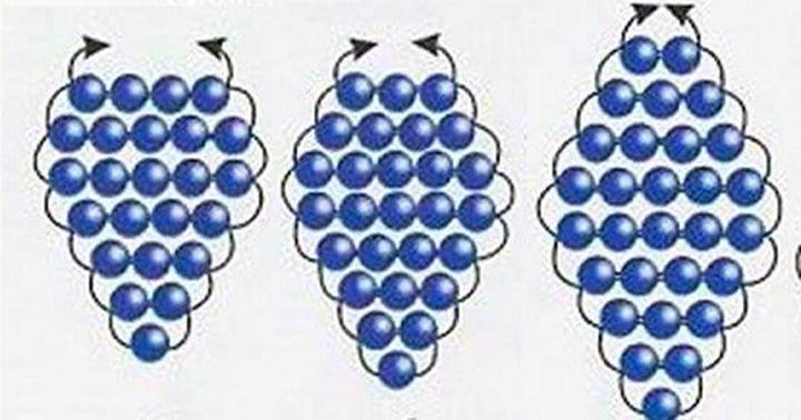 Плетение листа незабудки 4 этап