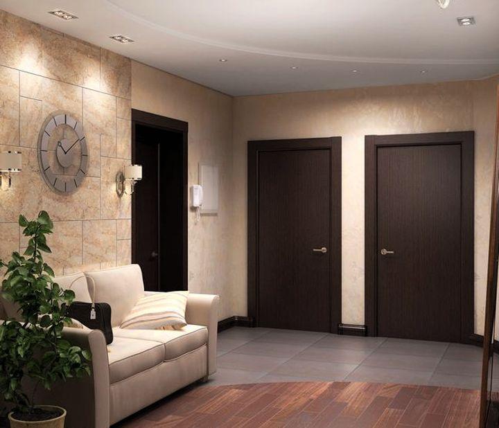 Лаконичные цвета в коридоре