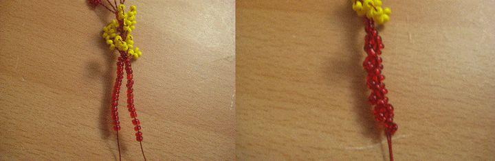 Плетение тычинок гибискус 3
