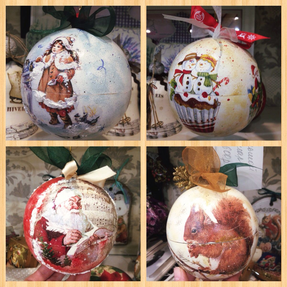 Роспись новогодних деревянных шаров
