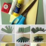 Фото 50: Изготовление открытки с елочкой - гармошкой