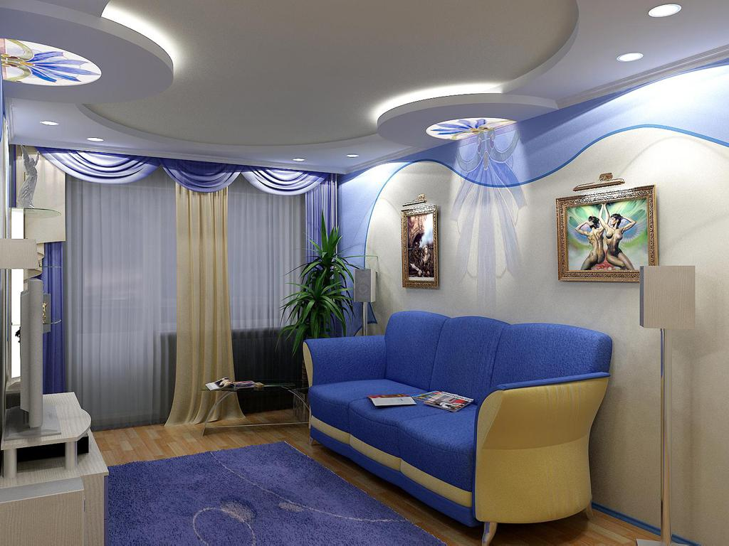 Комбинированное освещение потолков с использованием светодиодной ленты