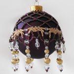 Фото 70: Красивый абажур из бисера для новогоднего шарика