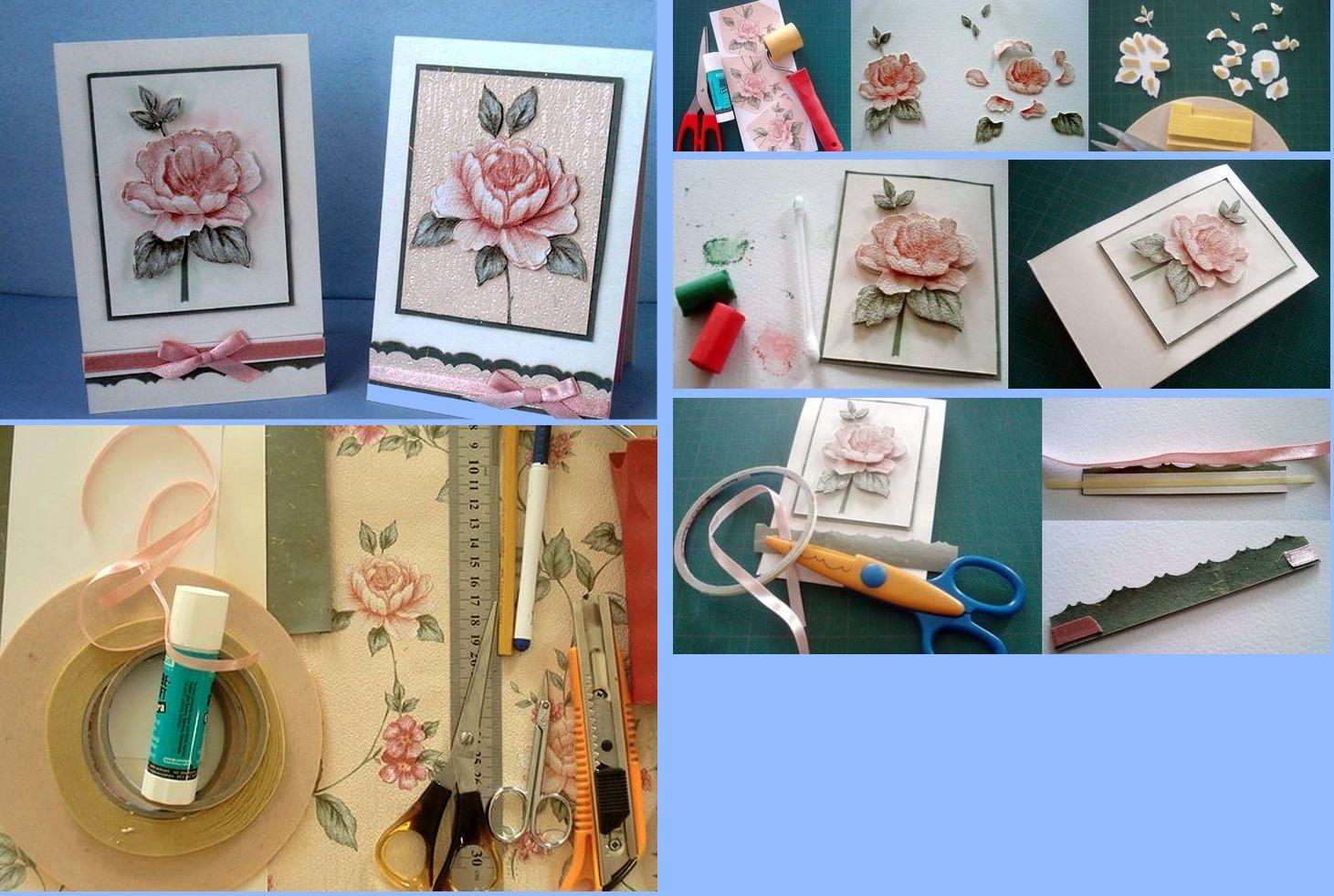 Изготовление открытки с объемным изображением для мамы