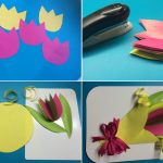 Фото 47: Сделать объемную открытку с букетом тюльпанов