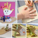 Фото 41: Сделать открытку своими руками из ладошек