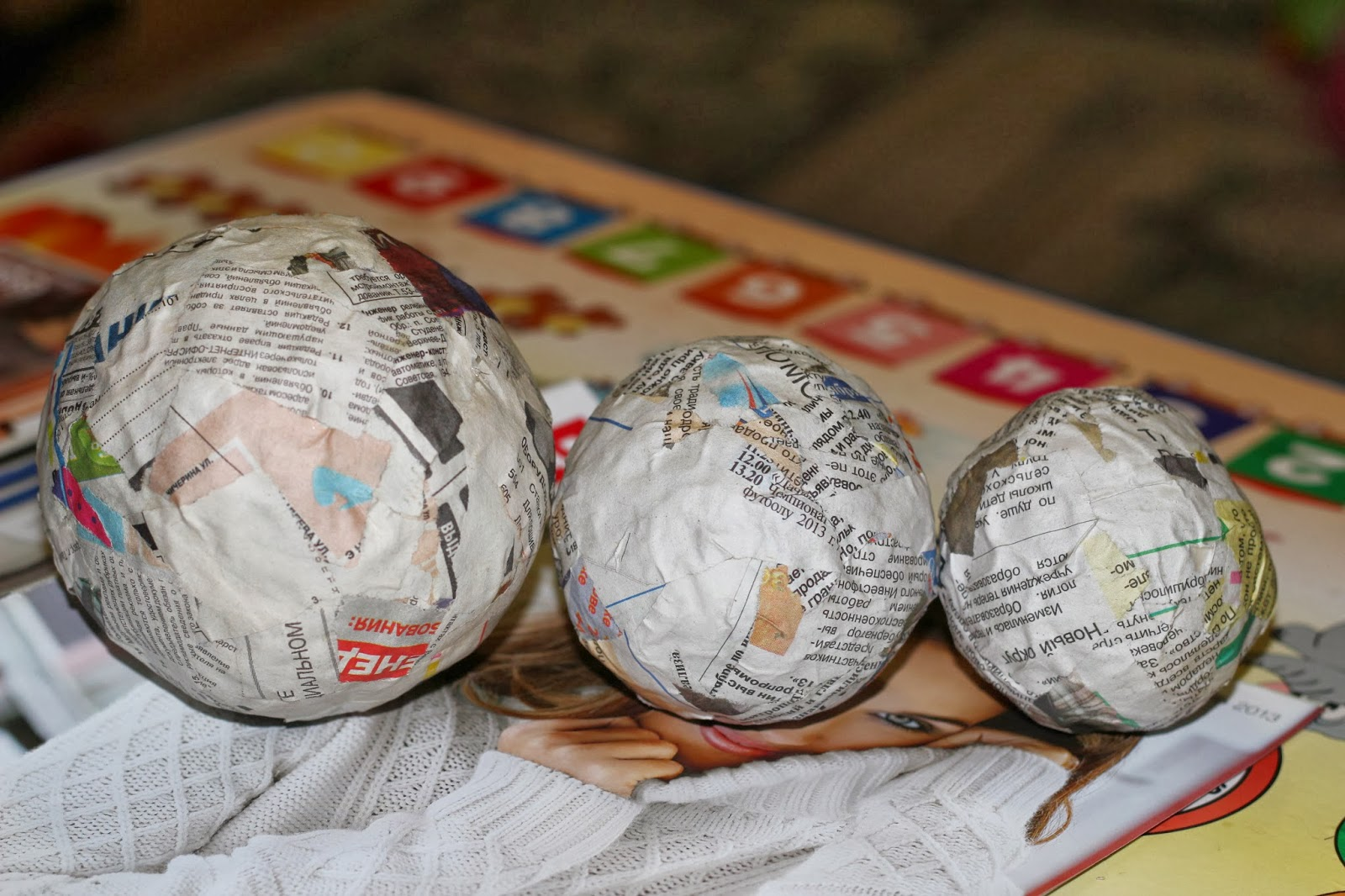 Заготовки для елочных шаров из папье маше