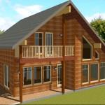 Фото 3: Дом из бруса с балконом (4)