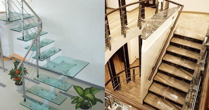 Отделочные материалы для ступенек лестницы