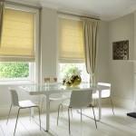 Фото 11: Желтые римские шторы