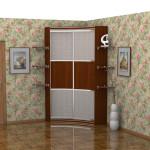 Фото 11: Шкаф в прихожей угловой