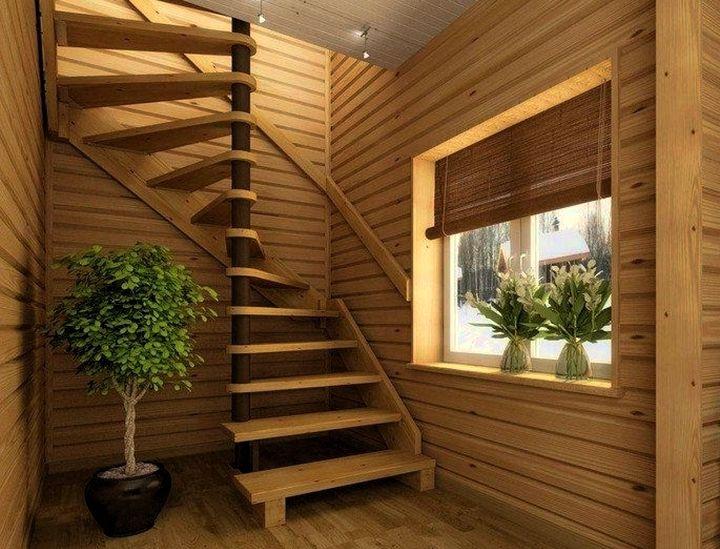 Спиральная форма лестницы для экономии места