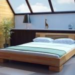 Фото 12: Двуспальная кровать низкая