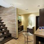 Фото 21: Коричневый дизайн лестницы