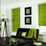 Фото 31: Зеленые римские шторы