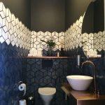 Фото 99: Кубическая 3Д плитка в ванной