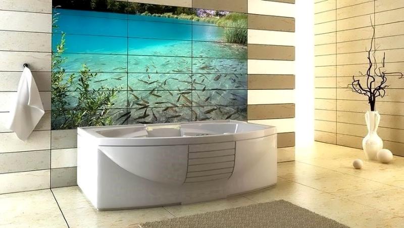 3D плитка с фотопечатью для ванной